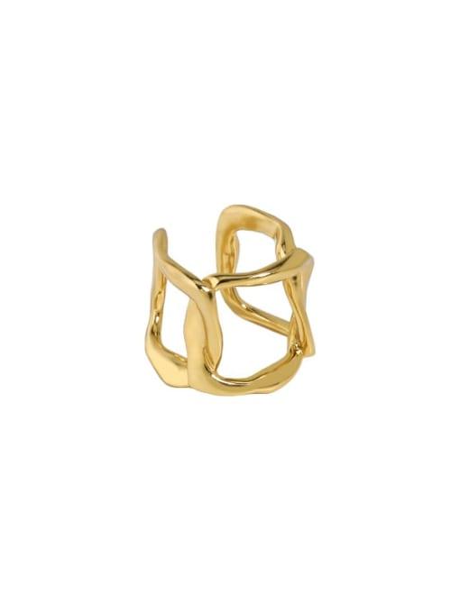 18K gold [single] 925 Sterling Silver Hollow Geometric Minimalist Single Earring